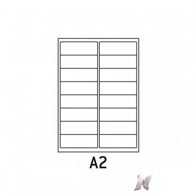 Image Boite de 100 planches de 16 étiquettes 99x33,9 mm 7211001J 01