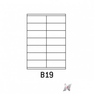 Image Boite de 100 planches de 14 étiquettes 105x39mm 7210994B 01